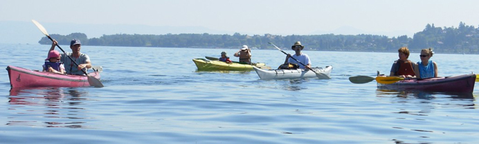 Des randonnées en kayak